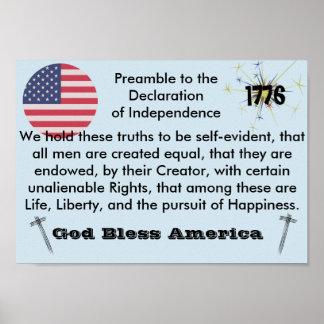 Poster de América dos deus abençoe