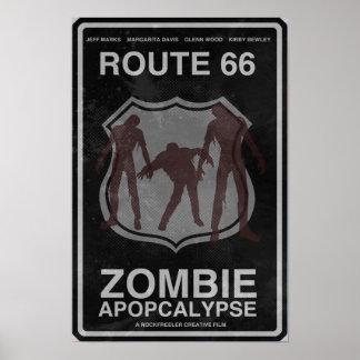 Poster de Apopcalypse do zombi da rota 66 Pôster