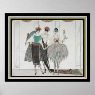 """Poster De """"art deco 16x20 de Sauvagettes dos Belles Les"""""""