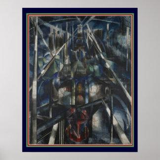 "Pôster De ""art deco da ponte Brooklyn"" por Stella 16x20"