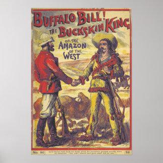 Poster de Buffalo Bill do vintage Pôster