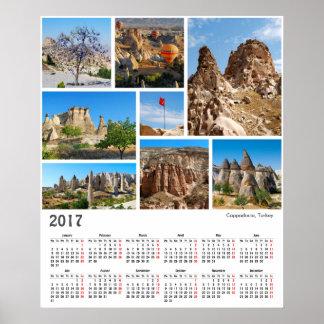 poster de Cappadocia de 2017 calendários