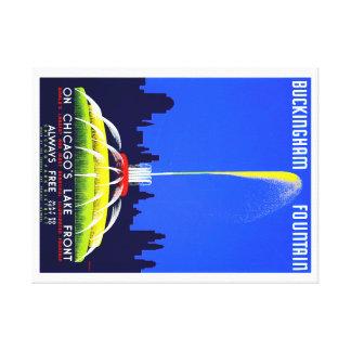 Poster de Chicago WPA da fonte de Buckingham do