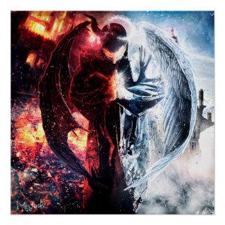 """Pôster De Demonz do santo do lugar de """"poster do brilho"""