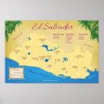 Poster de El Salvador, Departamentos