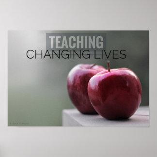 Poster de ensino & em mudança das vidas