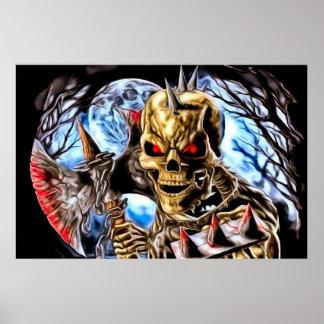 Poster de esqueleto sangrento