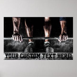 Poster de formação do levantamento de peso da
