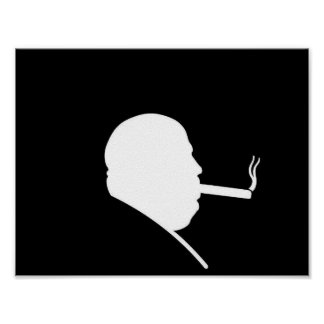 Poster de fumo do gângster