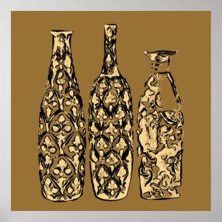 Pôster de garrafas em estilo Pop Art - OB-0021G