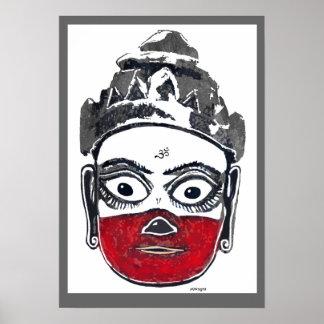Poster de Hanuman do herói