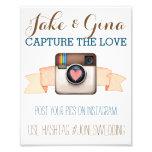 Poster de Hashtag da aguarela de Instagram da Impressão De Foto