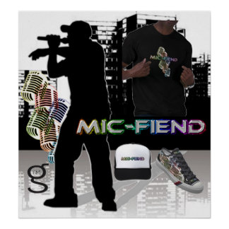 Poster de Hip Hop do diabo do Mic do eu sou roupa