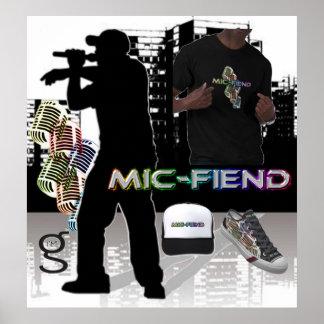 Poster de Hip Hop do diabo do Mic do eu sou roupa  Pôster
