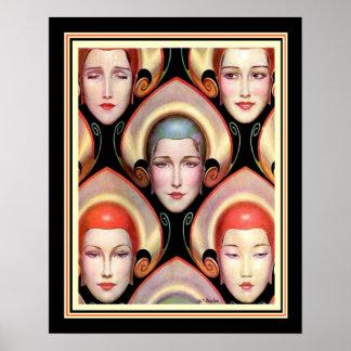 """Poster De """"impressão 16 x 20 de W.T. Benda Deco muitas"""