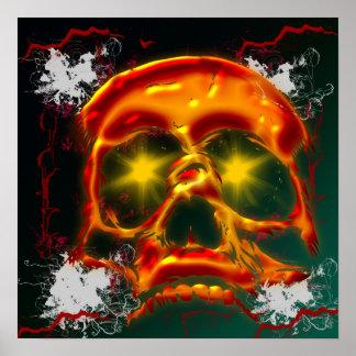Poster de incandescência do crânio