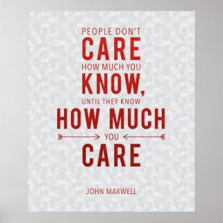 Poster de inquietação John Maxwell das citações da