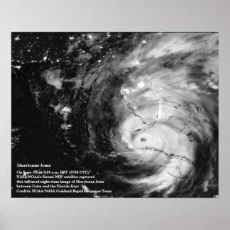 Poster de Irma 8x10 do furacão