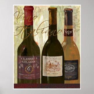 Poster de Italiano do Vino Pôster