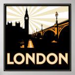 Poster de Londres do art deco