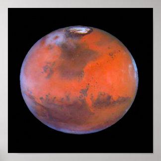 Poster de Marte do planeta