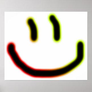 Poster de néon do sorriso