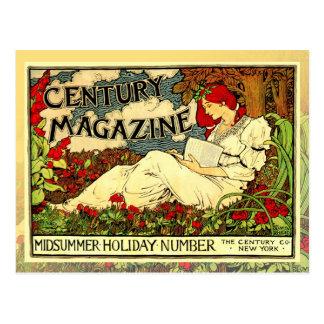 Poster de Nouveau da arte do vintage da leitura da Cartão Postal