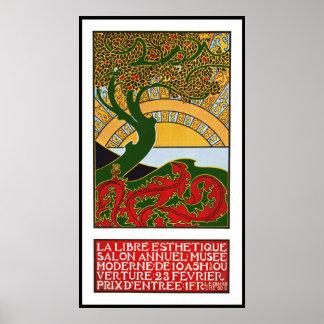 Poster de Nouveau da arte:  La Libre Esthetique
