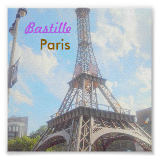 Poster de Paris do Bastille