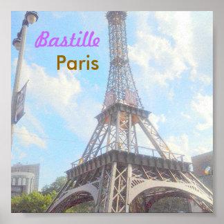 Poster de Paris do Bastille Pôster
