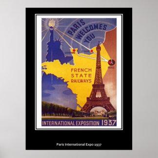 Poster de Paris do vintage
