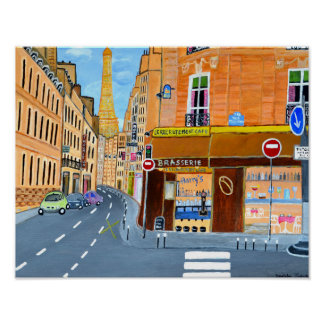 Poster de Paris, France Pôster