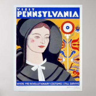 Poster de Pensilvânia da visita das viagens