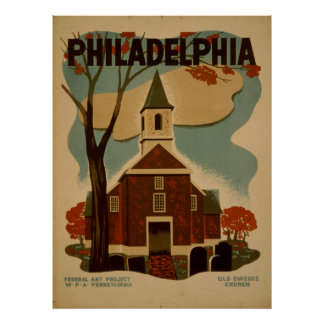 Poster de Philadelphfia do vintage