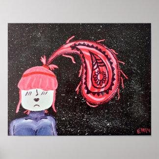 "Poster De ""poster perfeito da arte 11x14 Paisley"""