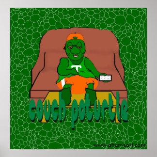 Poster de Poturtle do sofá