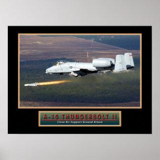 """Poster de """"raio"""" 24x18 do avião militar A-10 Pôster"""