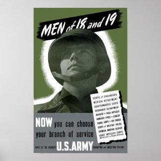 Poster de recrutamento do exército -- WWII