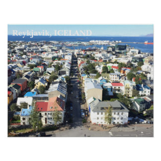 Poster de Reykjavik, Islândia