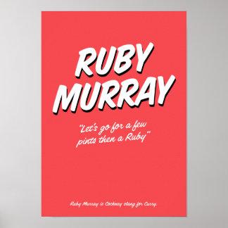 Poster de rima do calão do Cockney de Murray do
