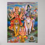 Poster de Shiva Parvati Ganesha