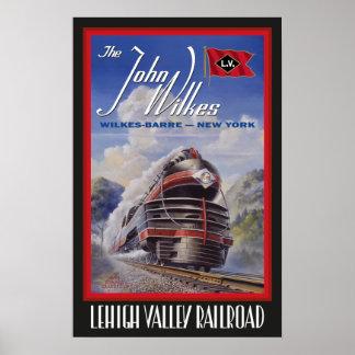 Poster de Streamliner do vale de Lehigh