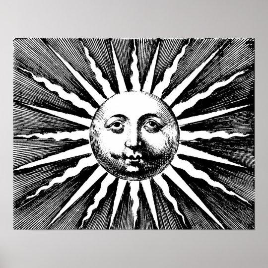 Poster de Sun do vintage Pôster