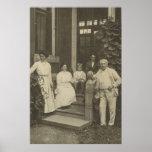 Poster de Thomas Edison e de família