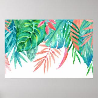 Poster de Tropicals da aguarela