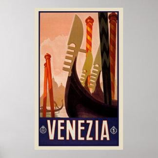 Poster de Venezia Italia das viagens vintage