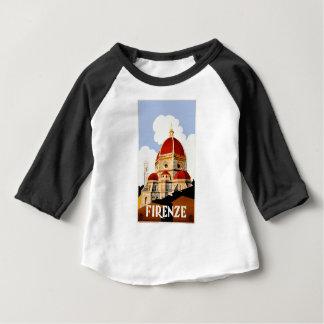 Poster de viagens 1930 de Florença Italia Camiseta Para Bebê