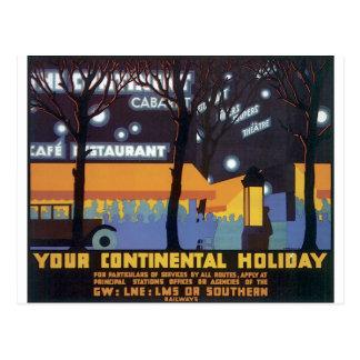 Poster de viagens antiquado cartão postal