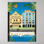 poster de viagens, Barcelona, espanha