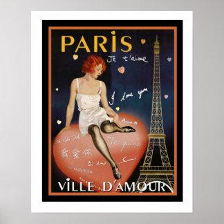 Poster de viagens colorido 16 x 20 de Deco Paris